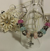 Dan Smatree The Beads European Style Murano Glass Beads Lampwork Charm Silver Bracelet Jewellery