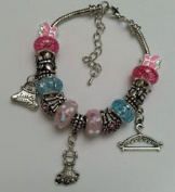 Dan Smatree The Beads European Style Murano Glass Beads Dangle Lampwork Charm Bracelet Handmade