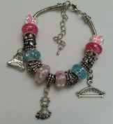 Dan Smatree The Beads European Style Murano Glass Beads Dangle Lampwork Charm Bracelet Handmade