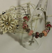 Dan Smatree The Beads European Style Murano Glass Beads Lampwork Charm Bracelet Silver Jewellery