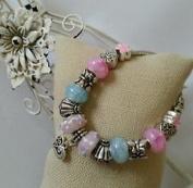 Dan Smatree The Beads European Style Murano Glass Beads Lampwork Charm Silver Bracelet Handmade