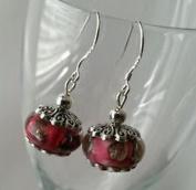 Dan Smatree The Beads 925 Sterling Silver Hook European Murano Glass Lampwork Beads Dangle Earrings