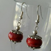 Dan Smatree The Beads European Style Murano Glass Lampwork Charm Beads Dangle Silver Earrings