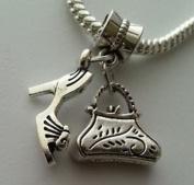 Dan Smatree The Beads Purse Handbag Bag High Heel Shoe Dangle Charm Beads Fit European Style Bracelet