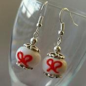 Dan Smatree The Beads 925 Sterling Silver Hook Murano Glass Lampwork Charm Beads Dangle Earrings