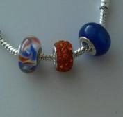 Dan Smatree The Beads 3pcs Murano Glass Lampwork Bead Charm for European Style Bracelet Valentines