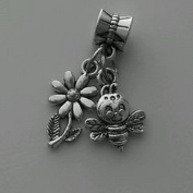 Dan Smatree The Beads Bee Insect Garden Flower Dangle Bead Fits Most European Style Charm Bracelet