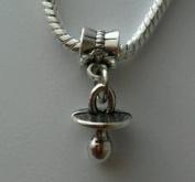 Dan Smatree The Beads New Baby Infant Pacifier Binky Dangle Charm Bead For Silver European Bracelet