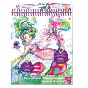 Splash Of Colour Sketchbook-Mermaid Splash