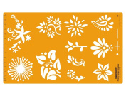 Floral Pattern Design Template Art & Craft Drafting Template Stencil Symbols Technical Drawing Scale