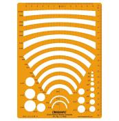 Circle Radius Master Template Design Stencil Symbols Technical Drawing Scale