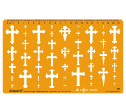 Cross Crosses Template Shapes Symbols Drawing Drafting Template Stencil - Jewellery Pattern Design
