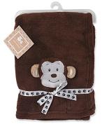 Regent Baby Crib Mates Monkey Blanket, Brown