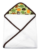 My Blankee Newborn Hooded Baby Boy Towel, Lime Green Turtles Time