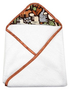 My Blankee Newborn Hooded Baby Boy Towel, Chocolate Zoo
