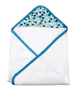 My Blankee Newborn Baby Girl Hooded, Aqua Pick a Bunch