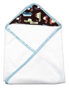 My Blankee Newborn Hooded Baby Boy Towel, Brown Road