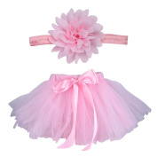 Blulu Baby Girls Tutu Skirt Dress Headband Set for Photography Prop