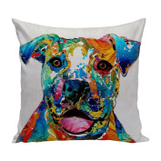 Colourful Dog Pit Bull Art case / Size 50cm x 50cm / Twin Side