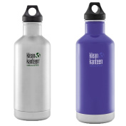 Klean Kanteen Classic Insulated 950ml Stainless Steel Water Bottle w/ Loop Cap