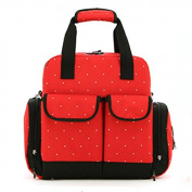 Luisvanita Large Dots Backpack Nappy Bag 3 Carrying Options
