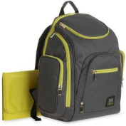 Baby Boom ( Grey and Green ) Spaces and Places Backpack Nappy Bag