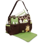 Baby Boom - ( Giraffe ) Nappy Tote Bag, Side bottle pockets