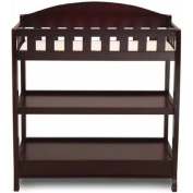 Delta Children's Changing Table with Pad, Espresso Cherry Finish