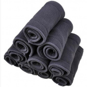 Babyfriend Cloth Nappy Inserts 5 Layer Charcoal Bamboo Reusable Liners for Cloth Nappies (Pack of 12)