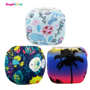 Baby Swim nappies, ANGEL LOVE Baby 3PCS Pack Cloth Swim nappy, Reusable Washable and Adjustable for Swimming, Outdoor Activities and Daily Use, Fit Babies 0-2 Years, All in One Size