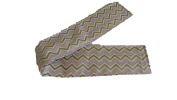 Jojo's Boutique Pink, White & Gold Chevron Nappy Strap