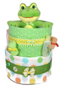 Sunshine Gift Baskets - Big Froggy - Pampers Swaddlers Nappy Cake Gift Set