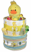 Sunshine Gift Baskets - Big Ducky Pampers Swaddlers Nappy Cake Gift Set