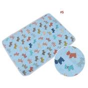 Cute Cartoon Dog Fish Baby Waterproof Urine Cover Mat Burp Changing Pad #1