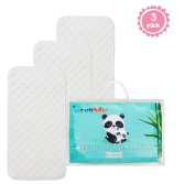 Bamboo Changing Pad Liners,Crib Pad Protector -3 Pack,Size (70cm x 32cm )♦Breathable,Highly Absorbent♦Machine Washable♦Leak proof Protection,Quilted Silky Soft. Antibacterial & Hypoallergenic.