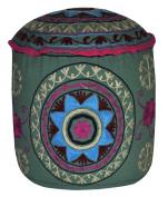 Decorative Entrance Hand Embroidered Design Ottoman Cover 18 X 46cm X 36cm