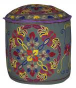 Room Decorative Handmade Round Ottoman Cover 18 X 46cm X 36cm