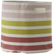 Pehr Designs 3 Stripe Bin, Pink/Citron