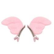 Velishy(TM) 1 Pair Kids Headwear Candy Colour Wings Hair Clip