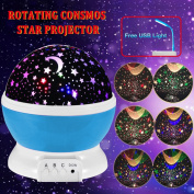 3 Modes Rotating Star Light Projector, 4LED Romantic Night Lamp Projection, Cosmos Star Sky Moon Lamp Projector for Kids Baby Bedroom, Christmas Gifts BY Noza Tec