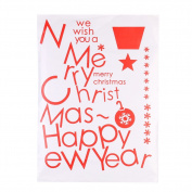 1pc Wallsticker Home Decor Wall Window Sticker Merry Christmas English Letter Happy New Year Background Sticker