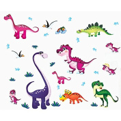 Dinosaurs Birds Wall Decal Home Sticker PVC Murals Vinyl Paper House Decoration WallPaper Living Room Bedroom Kitchen Art Picture DIY for Children Teen Senior Adult Nursery Baby