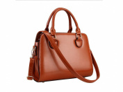 GINSIO Women's PU Leather Casual Simple Style Shoulder-handbags Cross-body-handbags