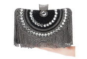 GINSIO Women's Pearl Rhinestone New Fashion Wristlet-handbags Evening-handbags
