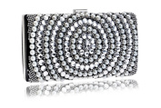 GINSIO Women's Pearl Rhinestone New Fashion Wristlet-handbags Clutch-handbags Evening-handbags