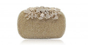 GINSIO Women's Rhinestone New Fashion Wristlet-handbags Clutch-handbags Evening-handbags