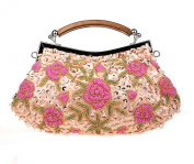 Ladies' Beaded & Sequined Vintage Roses Handbag Evening Party Purse Wedding Clutch Gift