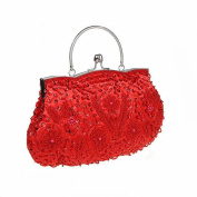 Bopstyle Womens Floral Beaded Top Handel Evening Party Frame Clutch Purse Wallet Handbag