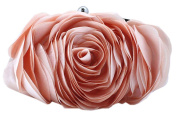 Bywen Womens Rose Pattern Purse Party Clutch Shoulder Bags