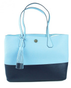 TORY BURCH Colour Block Perry Pebbled Leather Large Tote